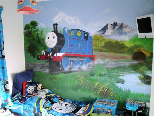 Thomas The Tank Engine Mural. Click To Preview. Small Product Photo ...